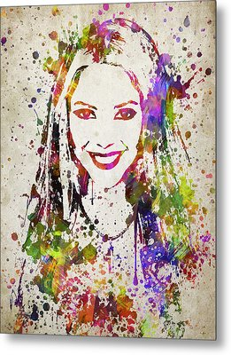 Shakira In Color Metal Print by Aged Pixel