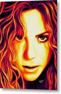 Shakira Metal Print by Rebelwolf
