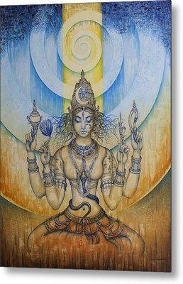 Shakti - Tripura Sundari Metal Print by Vrindavan Das