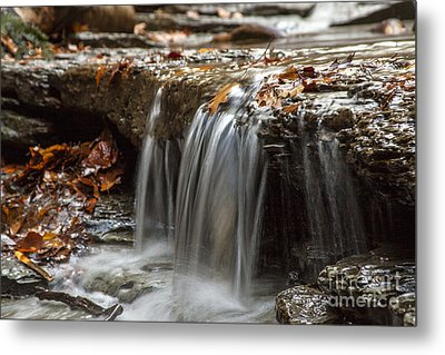 Shale Creek In Autumn Metal Print by Darleen Stry
