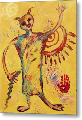 Shaman Greetings Metal Print by Carol Suzanne Niebuhr