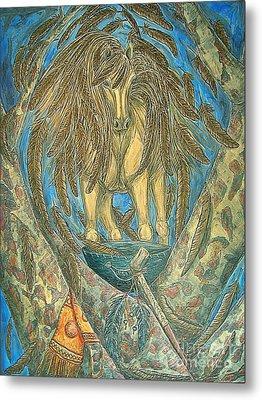Shaman Spirit Metal Print by Kim Jones