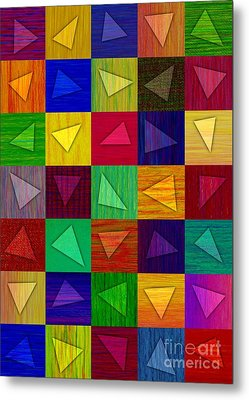 Shards Metal Print by David K Small