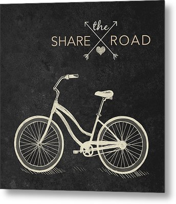 Share The Road Metal Print by South Social Studio
