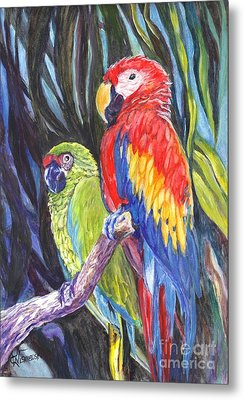 We Are Sharing A Perch  Metal Print by Carol Wisniewski