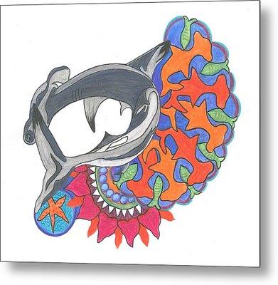 Shark Art Metal Print by Cherie Sexsmith