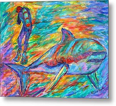 Shark Beauty Metal Print by Kendall Kessler