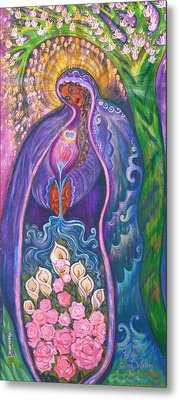 She Gives Birth To Living Waters Metal Print by Shiloh Sophia McCloud