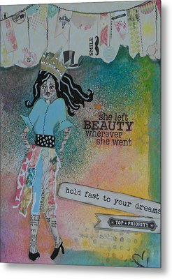 She Left Beauty Metal Print by Debbie Hornsby