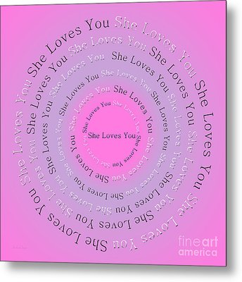 She Loves You 2 Metal Print by Andee Design