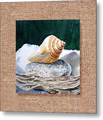 She Sells Seashells Decorative Design Metal Print by Irina Sztukowski