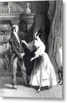 She Then Told Him What Mr Darcy Had Voluntarily Done For Lydia Metal Print by William Greatbach