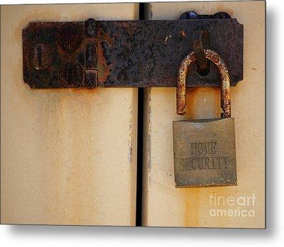 Shed Lock   Metal Print by Bobby Mandal