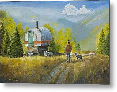 Sheep Camp Metal Print by Jerry McElroy