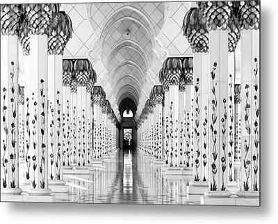 Sheik Zayed Mosque Metal Print by Hans-wolfgang Hawerkamp