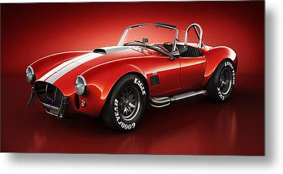 Shelby Cobra 427 - Bloodshot Metal Print by Marc Orphanos