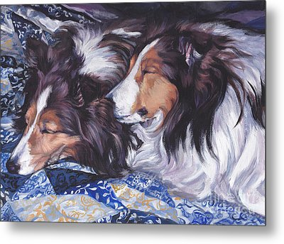 Sheltie Love Metal Print by Lee Ann Shepard
