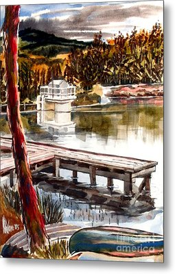 Shepherd Mountain Lake Bright Metal Print by Kip DeVore