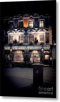 Sherlock Holmes Pub Metal Print by Jasna Buncic