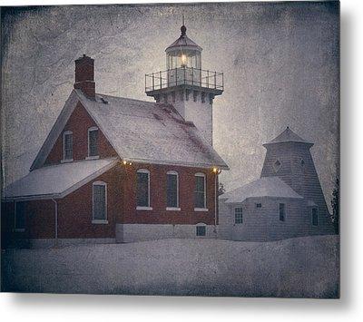 Sherwood Point Light Metal Print by Joan Carroll