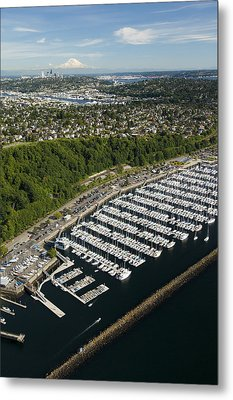 Shilshole Bay Marina On Puget Sound Metal Print by Andrew Buchanan/SLP