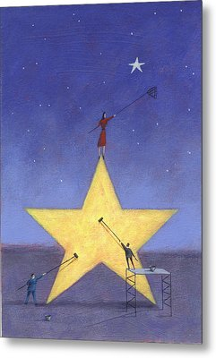 Shining Star Metal Print by Steve Dininno