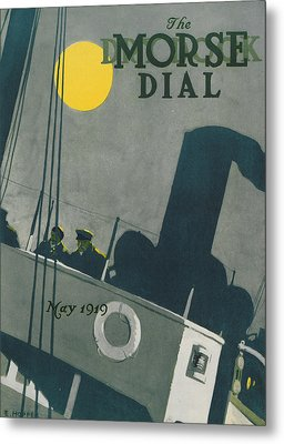 Ship At Night Metal Print by Edward Hopper
