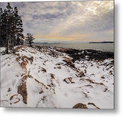 Ship Harbor At Acadia National Park Metal Print by Brent L Ander