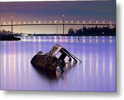 Ship Wreck Metal Print by Grant Glendinning