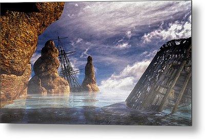 Shipwreck Metal Print by Bob Orsillo