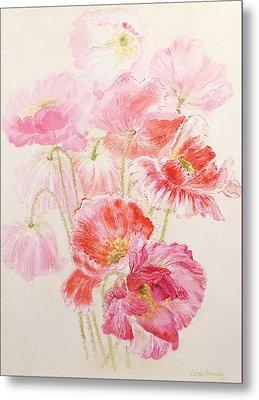 Shirley Poppies Metal Print by Joan Thewsey