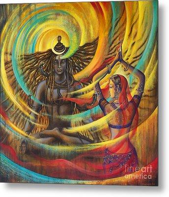 Shiva Shakti Metal Print by Vrindavan Das