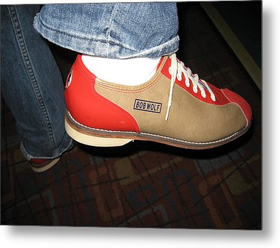 Shoes - Bowling - 01131 Metal Print by DC Photographer