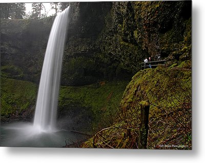 Shooting The Falls Metal Print by Nick  Boren