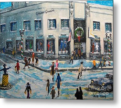 Shopping At Grover Cronin Metal Print by Rita Brown