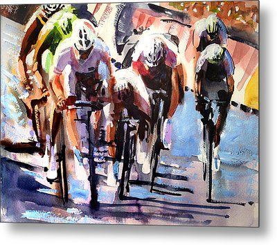 Short Sharp Sprint Metal Print by Shirley  Peters