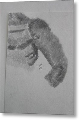 Shoulder Of A Man Metal Print by AJ Brown