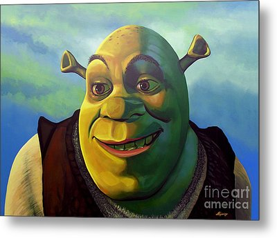 Shrek Metal Print by Paul Meijering