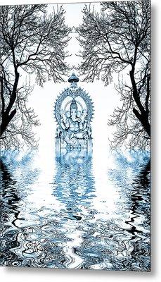 Shri Ganapati Deva Metal Print by Tim Gainey
