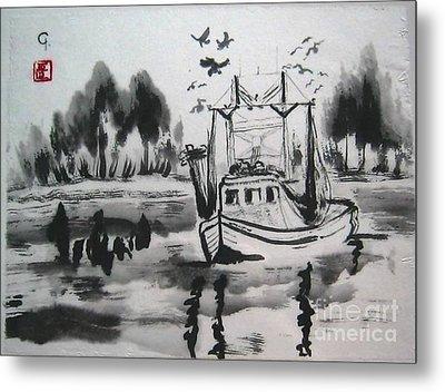Shrimp Boat Biloxi Metal Print by Jeanel Walker