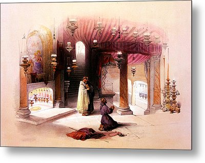 Shrine Of The Nativity Bethlehem April 6th 1839 Metal Print by Munir Alawi