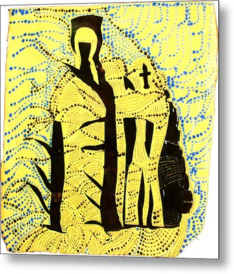 Shroud Of Jesus Metal Print by Gloria Ssali