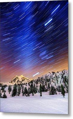 Shuksan Star Trails Metal Print by Alexis Birkill