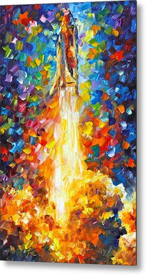 Shuttle Discovery  Metal Print by Leonid Afremov