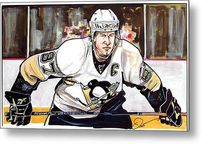 Sidney Crosby Metal Print by Dave Olsen