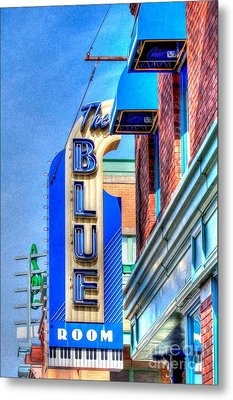 Sign - The Blue Room - Jazz District Metal Print by Liane Wright