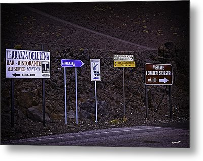 Signs Of A Crater - Sicily Metal Print by Madeline Ellis