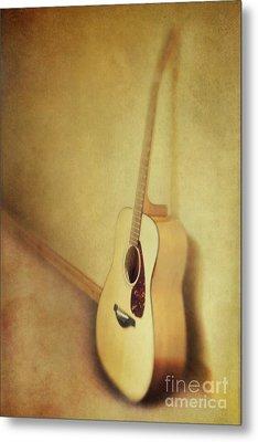 Silent Guitar Metal Print by Priska Wettstein