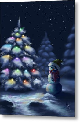 Silent Night Metal Print by Veronica Minozzi