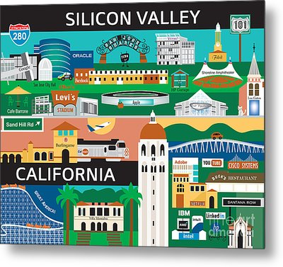 Silicon Valley Metal Print by Karen Young